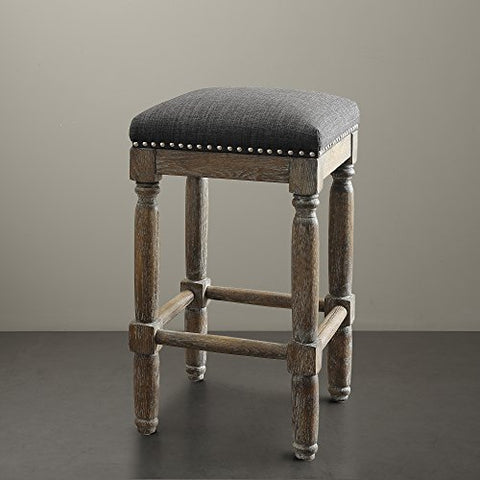 "Stool (Set of 2)2 Stools:14""W x 14""D x 26""H (2) Floor to Seat Height:26""HGreyFPF18-0186"