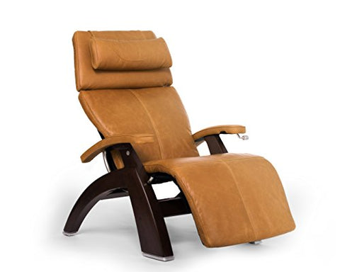 Perfect Chair PC-420 Premium Full Grain Leather Hand-Crafted Zero-Gravity Dark Walnut Manual Recliner` Sycamore