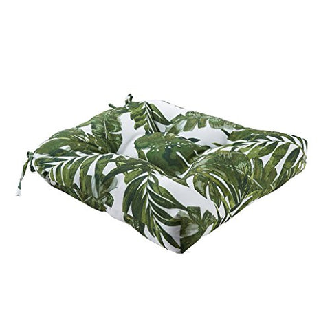 "Printed Palm 3M Scotchgard Outdoor Seat Cushion1 Cushion:20x20x3""GreenMP31-4108"