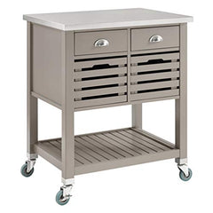 Robbin Gray Wood Kitchen Cart