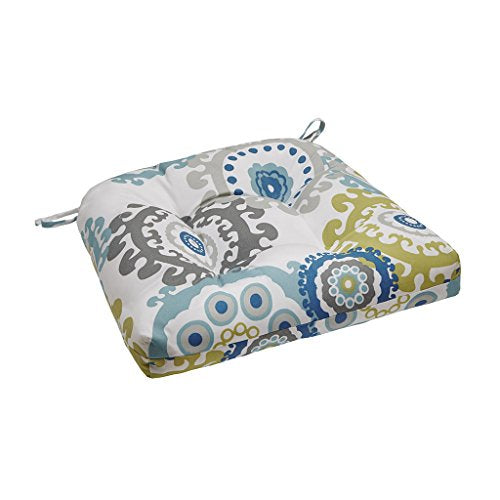 Printed Medallion 3M Scotchgard Outdoor Seat Cushion1 Cushion:20x20x3