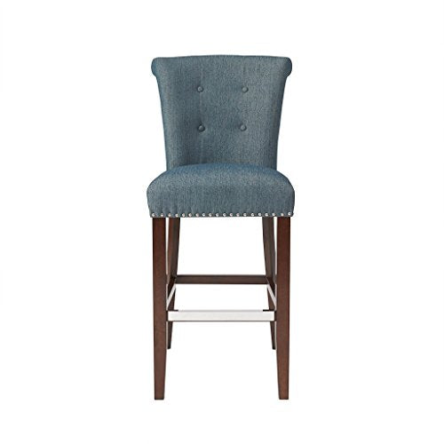 "30-Inch Bar Stool1 Bar Stool:21.25""W x 26.75""D x 43.75""H Seat:19""W x 17.5""D x 30""H Distance Between Legs (Front to Front):15.25"" Distance Between Legs (Front to Back):19.5"" Distance Between Legs (Back to Back):15.5""BlueMP104-0060"