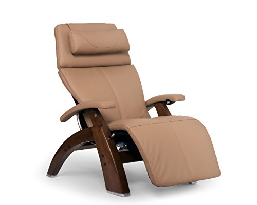 Perfect Chair PC-610 Leather Zero-Gravity Hand-Crafted Therapeutic Walnut Power Recliner