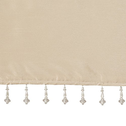 100 Polyester Twisted Tab Valance With Beads1 Valance:50W x 26LChampagneMP41-4454