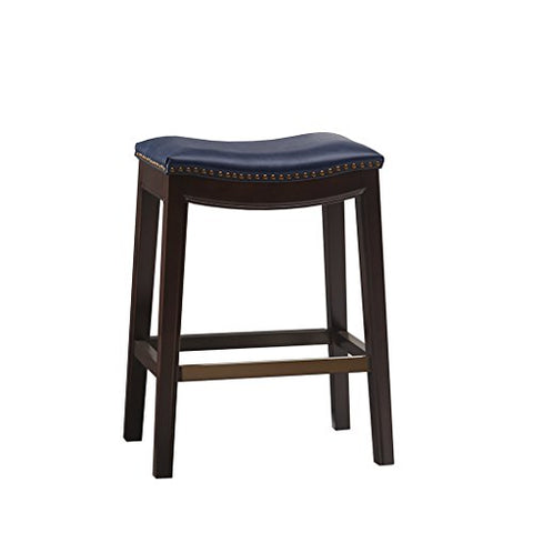 "Saddle Counter Stool1 Stool:20""W x 14.37""D x 27""H Seat:20""W x 14""D x 27""HNavyFUR101-0039"
