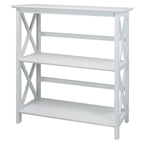 Montego 3-Shelf Bookcase-White