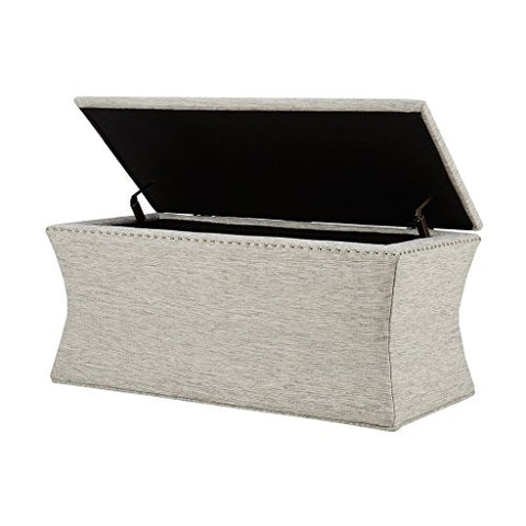 Storage Bench1 Bench:41W x 19.685D x 20.5HSeat (WxDxH):41W x 19.685D x 20.5HInterior Size (WxDxH):35.8W x 14.6D x 16.15HMaximum Weight Capacity:300lbsGrey MultiMP105-0218