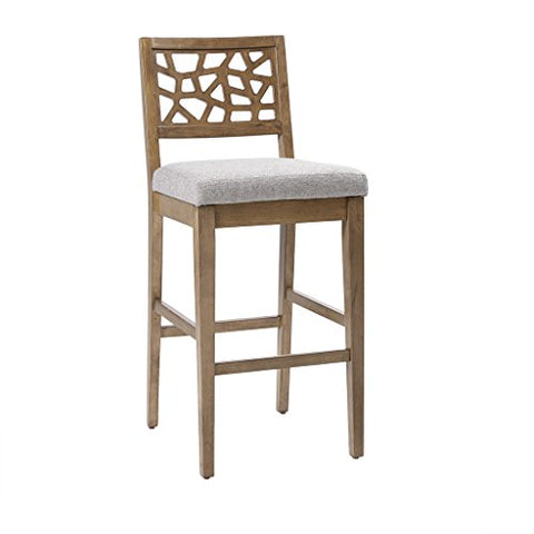 "Counter Stool1 Counter Stool:18.75x22.25x38.5"" Floor to Seat Height:25"" Item Weight /LB:18.74Light GreyIIF20-0050"