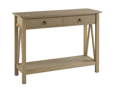 Titian Driftwood Console Table