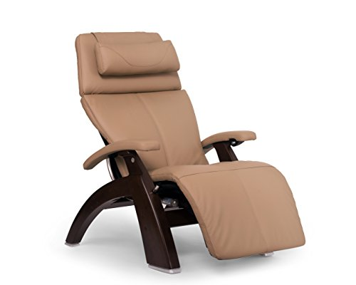 Perfect Chair PC-610 Leather Zero-Gravity Hand-Crafted Therapeutic Dark Walnut Power Recliner