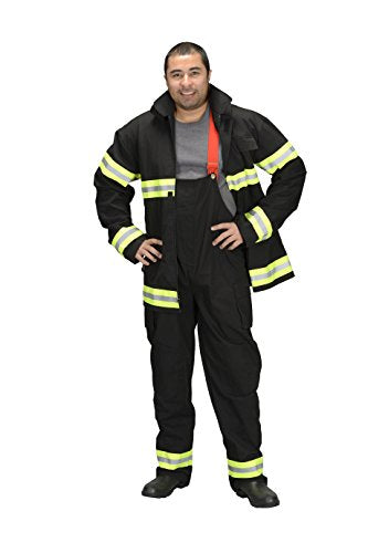 Adult Firefighter Suit, size Adult Small (Black) LOS ANGELES  (Helmet Sold Separately)
