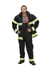 Adult Firefighter Suit, size Adult Large (Black)  (Choice of Helmet Sold Separately)