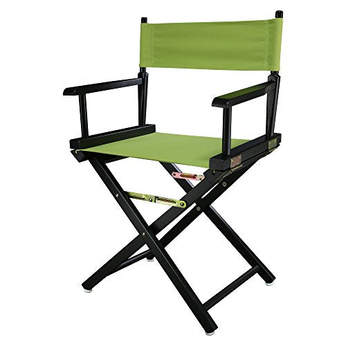 18 Directors Chair Black Frame-Lime Green Canvas
