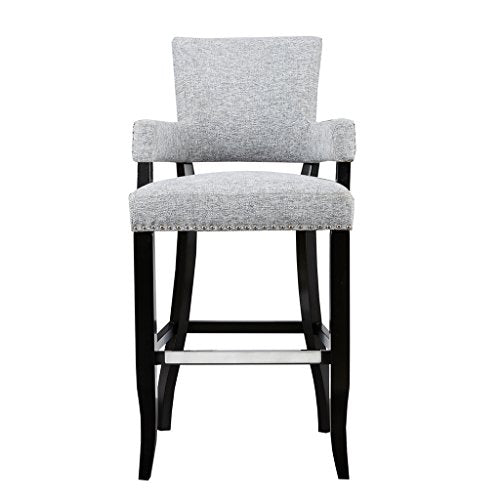 "Arm 30'' Bar Stool1 Bar Stool:22.5""W x 24.5""D x 44.25""H Seat:17.75""W x 17.75""D x 30""H Arms:17.75""W x 35.75""H Distance Between Legs (Front to Front):19"" Distance Between Legs (Front to Back):17.5"" Distance Between Legs (Back to Back):16.75""GreyMP104-0049"