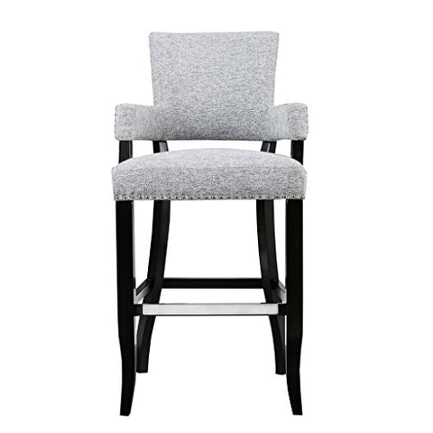 Arm 30 Bar Stool1 Bar Stool:22.5W x 24.5D x 44.25HSeat:17.75W x 17.75D x 30HArms:17.75W x 35.75HDistance Between Legs (Front to Front):19Distance Between Legs (Front to Back):17.5Distance Between Legs (Back to Back):16.75GreyMP104-0049