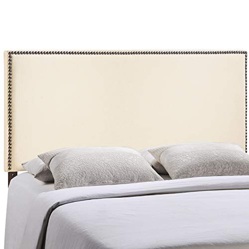 Region King Nailhead Upholstered Headboard - Ivory