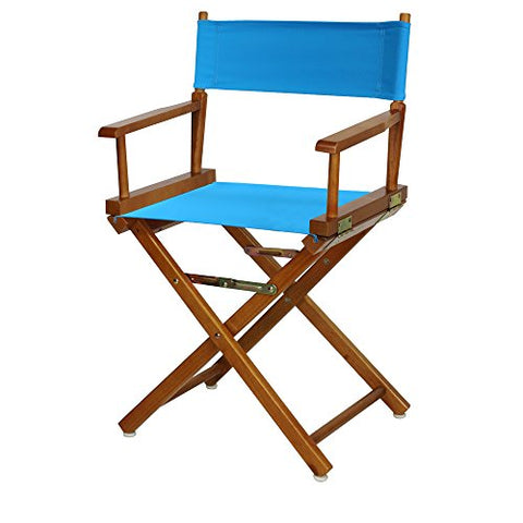 18 Directors Chair Honey Oak Frame-Turquoise Canvas