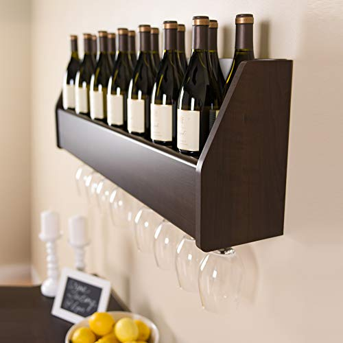 Floating Wine Rack, Espresso