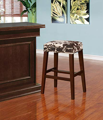 Walt Brown Cow Print Bar Stool