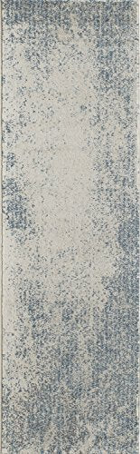 "Momeni Rugs LOFT0LO-02BLU2376 Loft Collection, Contemporary Area Rug, 2'3"" x 7'6"" Runner, Blue"