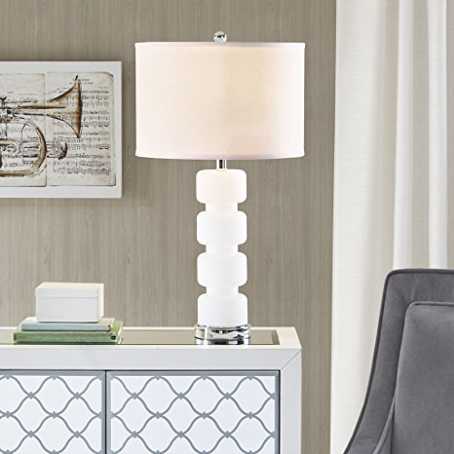 Table Lamp1 Emery Table lamp:16Dx16Wx28.75HShade Size:16D x16W x 11HBase Dimensions:5.5L X 5.5W X 20.8HCord Length:72WhiteMP153-0139