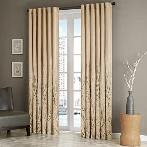 Window Curtain1 Window Panel:50x84TanWIN40-098