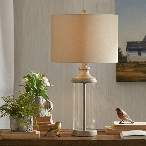 Table Lamp1 Table Lamp:14L x 14W x 26HBase Size:5.375 x 19Shade Size:14W x 14D x 10HCord Length:60ClearMP153-0171
