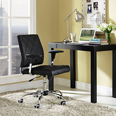 Lattice Vinyl Office Chair - Black