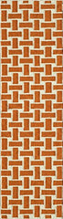 "Momeni Rugs LAGUALG-02ORG2380 Laguna Collection, 100% Wool Hand Woven Flatweave Contemporary Area Rug, 2'3"" x 8' Runner, Orange"