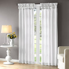 "Window Curtain1 Window Panel:50x95"" (1)WhiteWIN40-119"