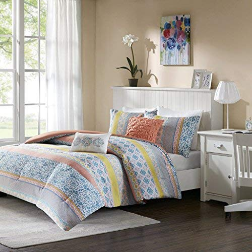 "Comforter Set1 Comforter:68x90"" 1 Standard Sham:20x26"" 2 Decorative Pillows:12x16""/16x16""CoralID10-1094"