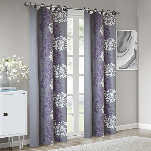 Window Curtain1 Window Panel:50x84Purple/GreyWIN40-105