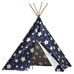 Children's Teepee, Blue with White Stars