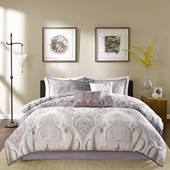"7 Piece Comforter Set1 Comforter:90x90"" 3 Decorative Pillows:18x18"" / 16x16"" / 12x18"" 1 Bed Skirt:60x80+15"" 2 Standard Shams:20x26+1"" (2)PurpleMP10-1902"