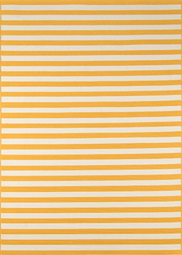 "Momeni Rugs BAJA0BAJ-1YEL6796 Baja Collection Contemporary Indoor Outdoor Area Rug, 6'7"" x 9'6"", Yellow"