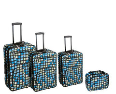 4PC MULTI BLUE DOTS LUGGAGE SET