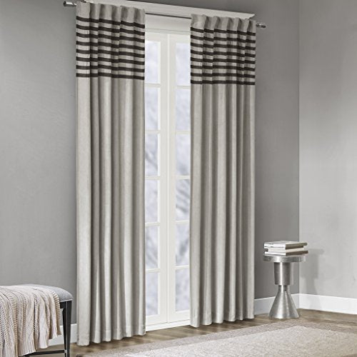 "Window Curtain Pair2 Panels:42x84""(2)GreyWIN41-090"
