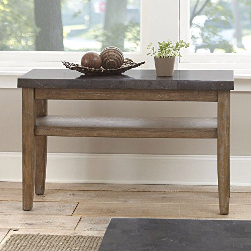Steve Silver Debby Bluestone Console Table in Driftwood