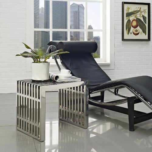 Gridiron Small Stainless Steel Bench - Silver