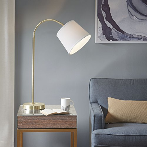 Table lamp1 Venus Table lamp:22.5W x 10D x 33.5HShade Size:8D x 10D x 8HCord Length:72Base Dimensions:22.5W x 10D x 33.5HWhite/GoldMP153-0149