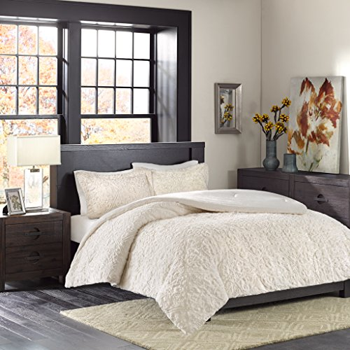 "Ultra Plush Comforter Mini Set2 King Shams:20x36+2""(2) 1 Comforter:104x90""IvoryMP10-2001"