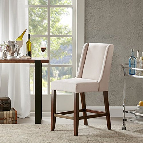 Wing Counter Stool1 Bar Stool:18W x 26.5D x 41.5HSeat:18W x 18.5D x 25.75HDistance Between Legs (Front to Front):14.75Distance Between Legs (Front to Back):21.5Distance Between Legs (Back to Back):15CreamMP104-0040