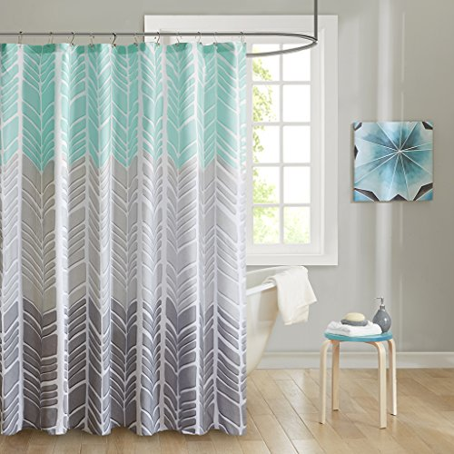 100 Microfiber Printed Shower Curtain1 Shower Curtain:72x72AquaID70-791