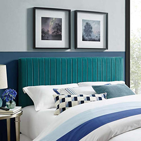 Keira King/California King Performance Velvet Headboard - Teal