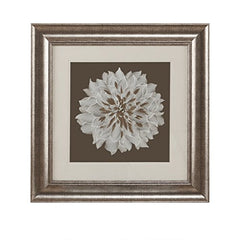 "Decorative Embroidery Wall Art Flower1 Wall Art:23""W x 23""H x 0.9""DBrownHH95B-0004"