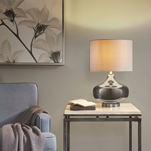 Table Lamp1 Madera Table lamp:15.5Lx15.5Wx24HShade Size:15.5D x15.5Wx11HBase Dimensions:13.75Dx13.75Wx14HCord Length:72SilverMP153-0140