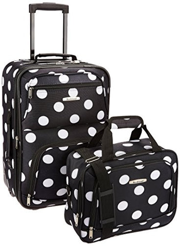 2 PC BLACKDOT LUGGAGE SET