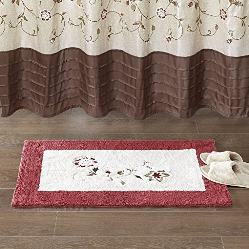 "Embroidered Cotton Tufted Rug1 Rug:21""W x 34""LRedMP72-5195"