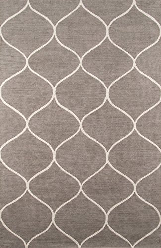 Momeni Rugs NEWPONP-10GRY5080 Newport Collection, 100% Wool Hand Tufted Loop Cut Contemporary Area Rug, 5' x 8', Grey