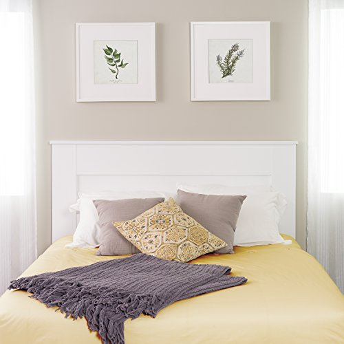 Queen Flat Panel Headboard, White